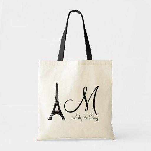 DIY Monogram Eiffel tower design Bag