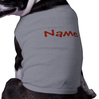 DIY Name - Dog Apparel Tank Top Grey Sleeveless Dog Shirt