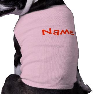 DIY Name - Dog Apparel Tank Top Pink Sleeveless Dog Shirt