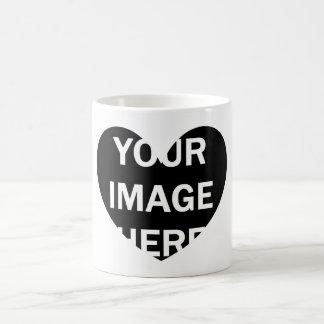 DIY One-of-a-kind HEART Frame Photo 6 Basic White Mug
