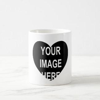 DIY One-of-a-kind Heart Frame Photo Gift Item Basic White Mug
