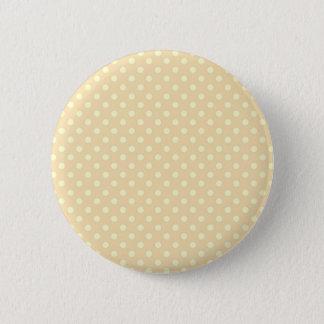 DIY Peach Polka Dot Background Zazzle Gift 6 Cm Round Badge