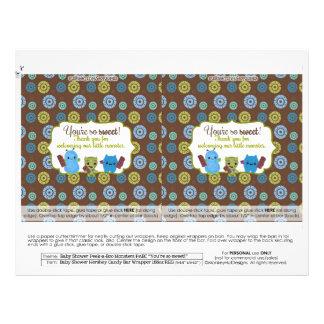 DIY Peek-a-Boo Monsters 1.55oz Candy Bar Wrappers Custom Flyer