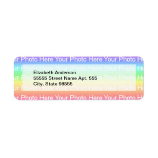 DIY Photo Template Return Address Label