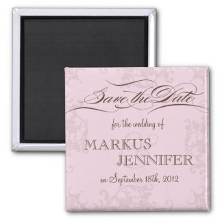 DIY Pink and Chocolate Save the Date Magnet Refrigerator Magnet