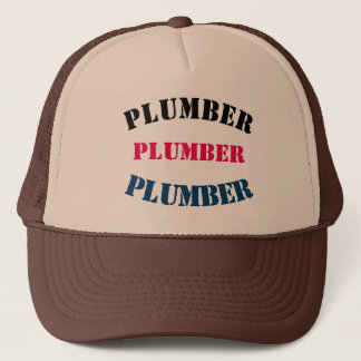 Diy Plumber U can change TEXT STYLE SIZE COLOR Trucker Hat