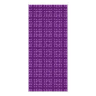 DIY Purple Square Pattern Design Zazzle Home Gift 10 Cm X 23 Cm Rack Card