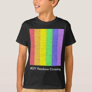 #DIY Rainbow Crossing - T-Shirt Black