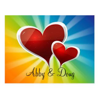diy Rainbow hearts Postcard