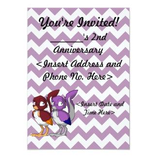 "DIY Reptilian Bird Joint Party Invitation 4.5"" X 6.25"" Invitation Card"