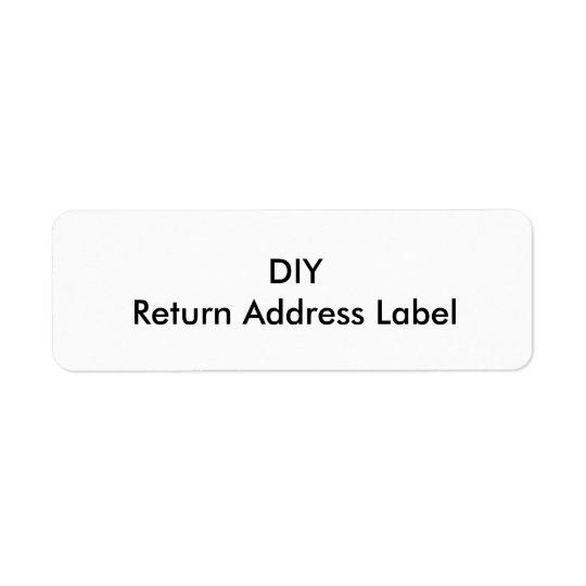 DIY Return Address Label