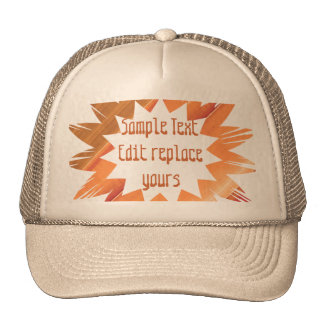 DIY Template: Edit Text Message Greeting Blessing Trucker Hat
