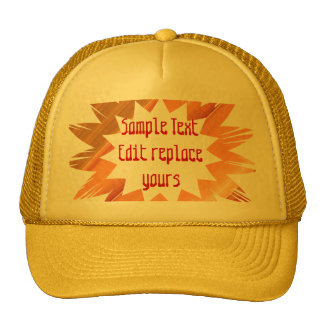 DIY Template: Edit Text Message Greeting Blessing Trucker Hats