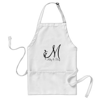 DIY Tulip logo with monogram Standard Apron