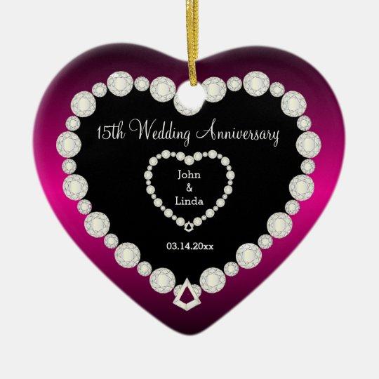DIY Wedding Anniversary in Fuchsia & Faux Diamonds