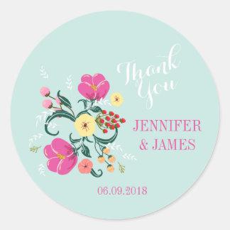 DIY Wedding floral vintage flowers favour stickers