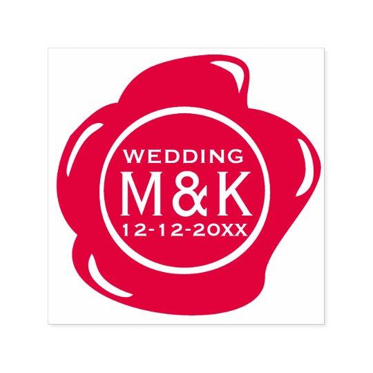DIY Wedding Funny Faux Red Wax Seal Monogram