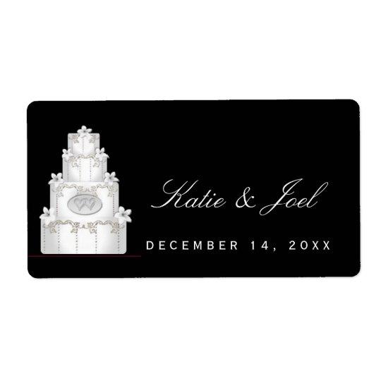 DIY wedding labels  white wedding cake