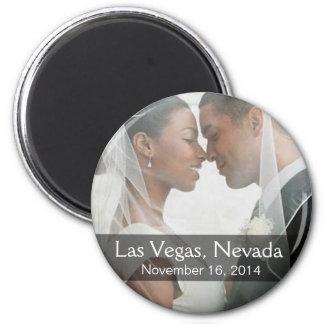 DIY Wedding Photo Round Keepsake Favor 6 Cm Round Magnet