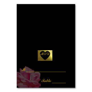 DIY  Wedding Place Cards | Flower Set Black Rose Table Cards