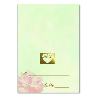 DIY  Wedding Place Cards | Flower Set Green Table Cards
