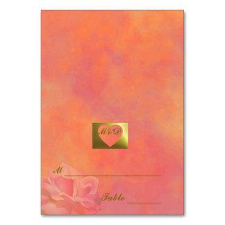 DIY  Wedding Place Cards | Flower Set Orange Table Cards