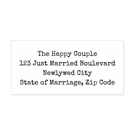 DIY Wedding Return Address Simple Typewriter Style Self-inking