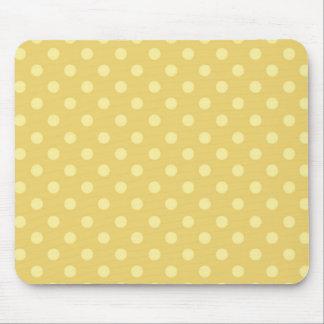 DIY Yellow Polka Dot Background Zazzle Gift Mouse Mat