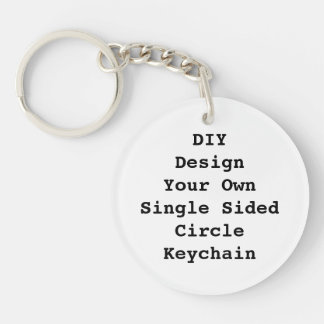 DIY You Design It Yourself Personalized Keychain
