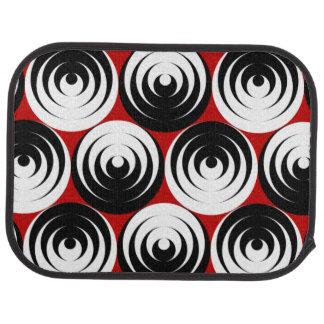 Dizzy circles car mat