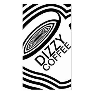 dizzy coffee loyalty program business card template