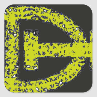 Dizzy Heavens Square Sticker