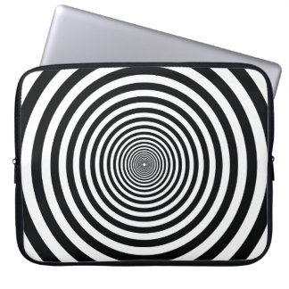 dizzy illusion black and white art vo22 computer sleeve