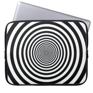 dizzy illusion black and white art vo22 laptop sleeve