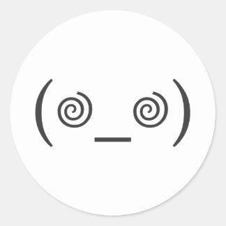 Dizzy in Gray Round Stickers
