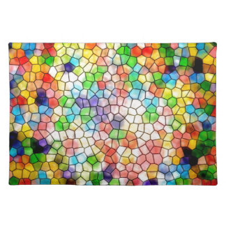 Dizzy stained glass placemats