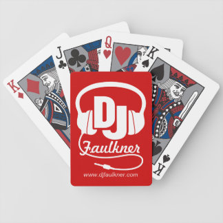 DJ add your name & contact red playing cards