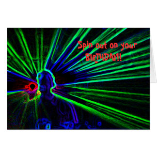 DJ and Laser Lights birthday card