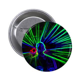 DJ and Laser Lights button / badge
