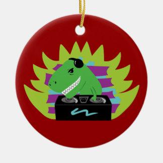 Dj-asaurus Rex Christmas Ornament