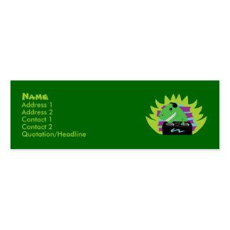 Dj-asaurus Rex T-Rex DJ Profile Cards Business Card