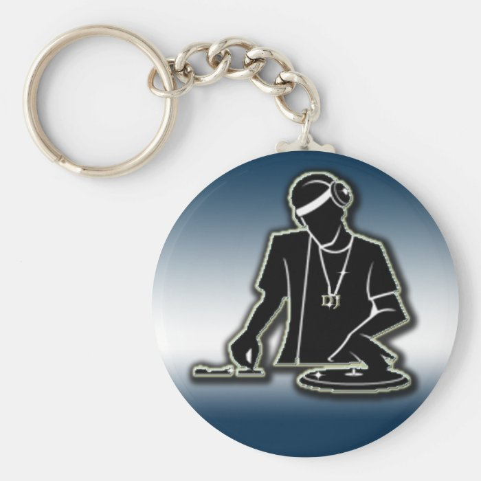 DJ BASIC ROUND BUTTON KEY RING