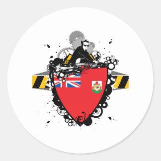 DJ Bermuda Round Sticker