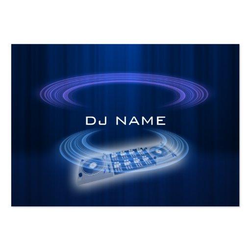 dj blue business card templates