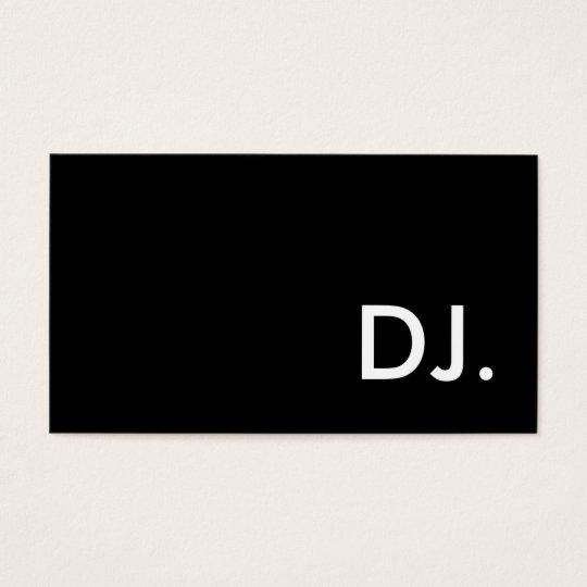 dj. business card