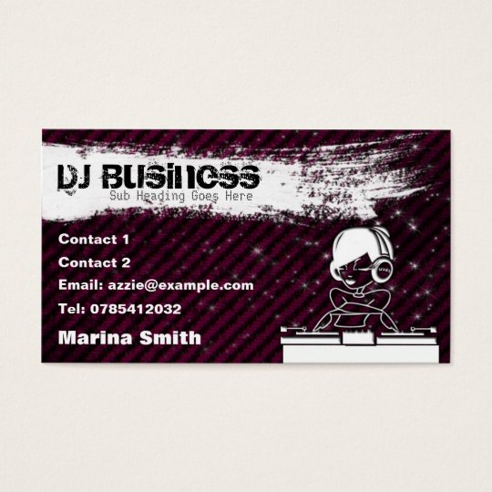 DJ Business Card [female] - customisable