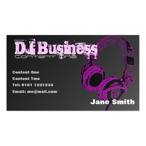 premium dj business card templates page7. Black Bedroom Furniture Sets. Home Design Ideas