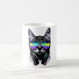 Dj Cat Coffee Mug