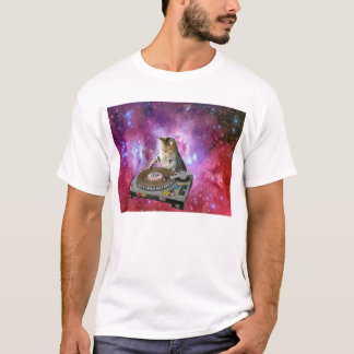 DJ Cat In Space T-Shirt