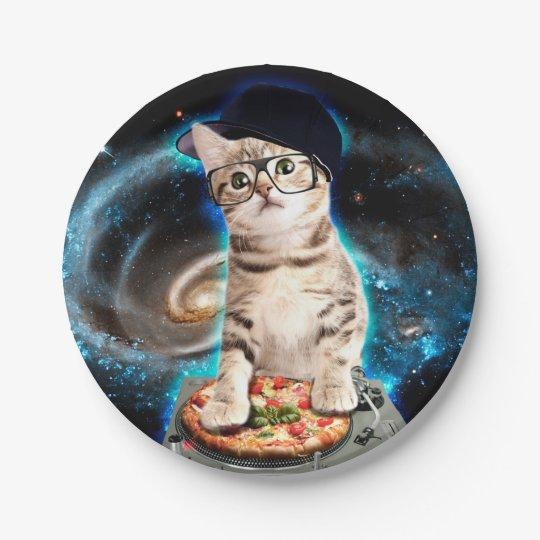 dj cat - space cat - cat pizza